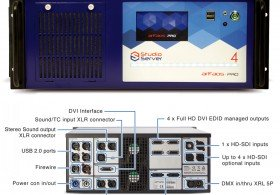 4 HD output Media server with 12 layers